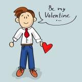 Seien Sie meine Valentinsgrußkarikatur Lizenzfreies Stockfoto