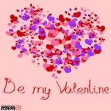 Seien Sie meine Valentinsgrußkarte stock abbildung