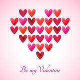 Seien Sie meine Valentinsgrußvektor-Grußkarte Stockbild