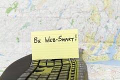 Seien Sie Netz-Smart für Internet-Sicherheit Lizenzfreie Stockbilder