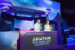 Seien Sie Ng Chee Meng behilflich, der das Luftfahrt-offene Haus startet Lizenzfreie Stockfotos