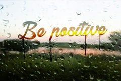 Seien Sie positiv stockfotos