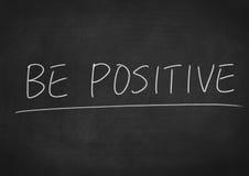 Seien Sie positiv Stockbild