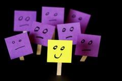 Seien Sie positiv, seien Sie unterschiedlich, stehen Sie heraus Stockfotos