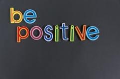 Seien Sie positiv, tun nicht negativ Lizenzfreies Stockbild