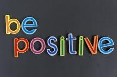 Seien Sie positiv, tun nicht negativ Lizenzfreies Stockfoto