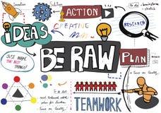 Seien Sie rohes Kreativitäts-neue Ideen-Design-einzigartiges Konzept Stockfoto