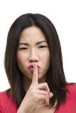 Seien Sie ruhige Geste Lizenzfreie Stockfotografie