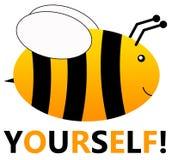 Seien Sie sich Fliegenbiene vektor abbildung