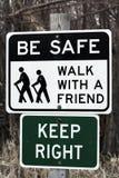 Seien Sie sicheres Zeichen Stockbilder