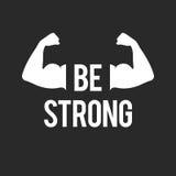 Seien Sie starke, muskulöse Arme Lizenzfreie Stockbilder