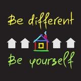 Seien Sie unterschiedlich, seien Sie sich lizenzfreie abbildung