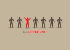Seien Sie unterschiedliche Konzept-Vektor-Illustration Lizenzfreies Stockbild