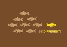 Seien Sie unterschiedliche kreative Konzept-Vektor-Illustration Lizenzfreies Stockfoto