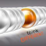 Seien Sie unterschiedliches Konzept 3D Stockfotografie