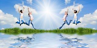 Seien Sie vom Leben glücklich Stockbilder