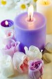 Seife für ein Bad in Form einer Rose Stockfotos