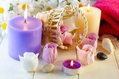 Seife für ein Bad in Form einer Rose Lizenzfreie Stockbilder
