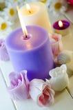 Seife für ein Bad in Form einer Rose Stockfotografie
