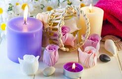 Seife für ein Bad in Form einer Rose Lizenzfreie Stockfotografie
