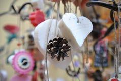 Seife in Form von Herzen im Shop Lizenzfreie Stockfotografie