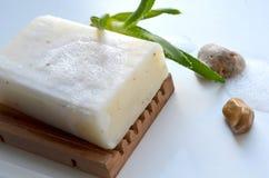 Seife mit Aloe Stockfotografie