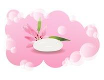 Seife mit Aroma von Lilien Lizenzfreie Stockfotografie