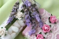 Seife und Kristalle lizenzfreies stockfoto
