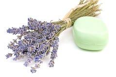 Seife und Lavendel Lizenzfreies Stockbild