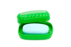 Seife und Soap-box Lizenzfreie Stockbilder