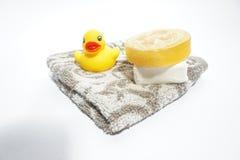 Seife und Tuch Stockbilder