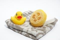 Seife und Tuch Lizenzfreie Stockfotografie