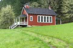 Seifen-Nebenfluss-Schulhaus nahe Corvallis, Oregon 6 stockbilder