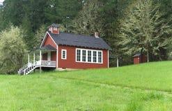 Seifen-Nebenfluss-Schulhaus nahe Corvallis, Oregon 3 stockbilder