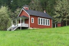 Seifen-Nebenfluss-Schulhaus nahe Corvallis, Oregon 2 lizenzfreies stockbild