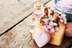 Seifen-, Tuch- und Blumenschneeglöckchen Stockbild