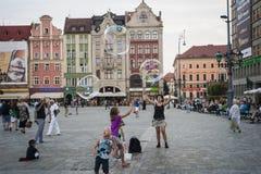 Seifenballone in Breslau Stockfotos
