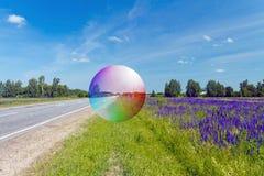 Seifenblase und die Straße Lizenzfreie Stockbilder