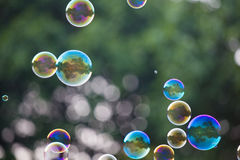 Seifenblasen lizenzfreie stockfotos