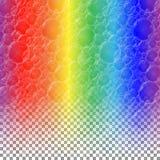 Seifenblasen auf einem Regenbogen stock abbildung