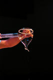 Seifenblasen Kunst -在阶段的艺术泡影 库存照片