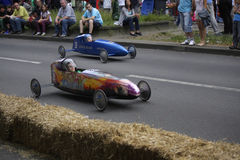 Seifenkistenderby (soap box derby) Stock Photography