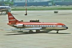 Seifenlösungs-Luftfahrt SE-210 Caravelle D-ABAP SAT Flug KN 235, nach am 1. Mai 1980 landen lizenzfreies stockfoto