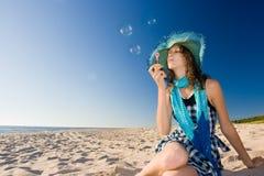 Seifenluftblasen Stockfoto