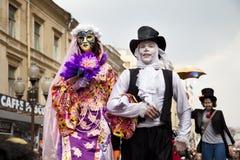 Seifenluftblasen DreamFlash Karneval in Moskau Lizenzfreie Stockfotos