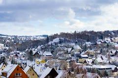 Seiffen Church Saxony Germany in Winter Stock Photos