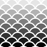 Seigaiha Japanese seamless black and white shade wave pattern for background, wallpaper, texture, web, blog, print or graphic. Royalty Free Stock Images