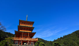 Seigantoji pagoda in Nachi, Japan Stock Photo