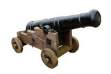 Seige cannon isolated on white background Royalty Free Stock Photos