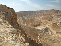 The Seige Ramp at Masada Royalty Free Stock Photography